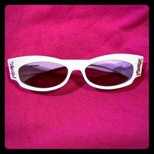 YSL Sunglasses with Swarovski crystal logo